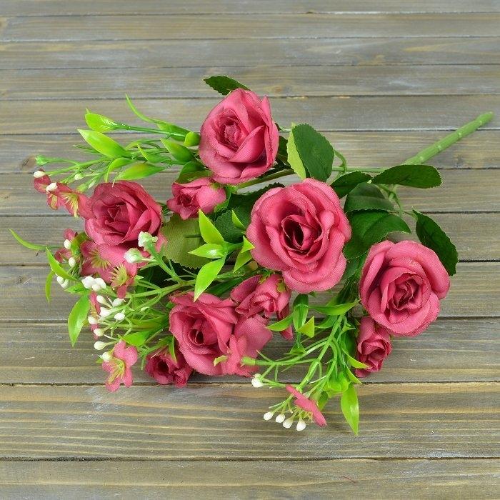 Букет роза Кордеса бордо