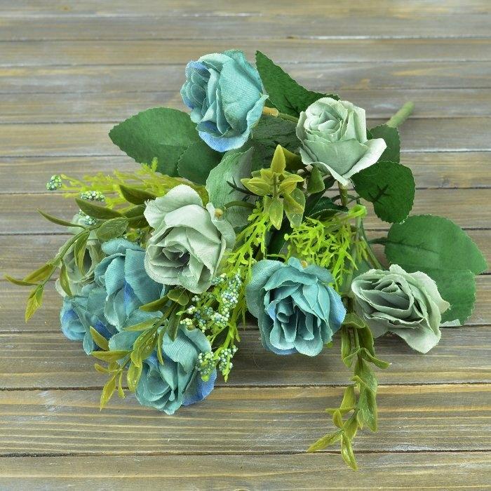 """Букет роза """"прованс"""" - серо-голубая"""