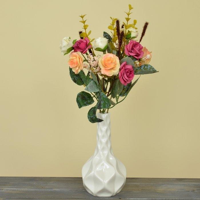 Букет роза биколор - персиковая
