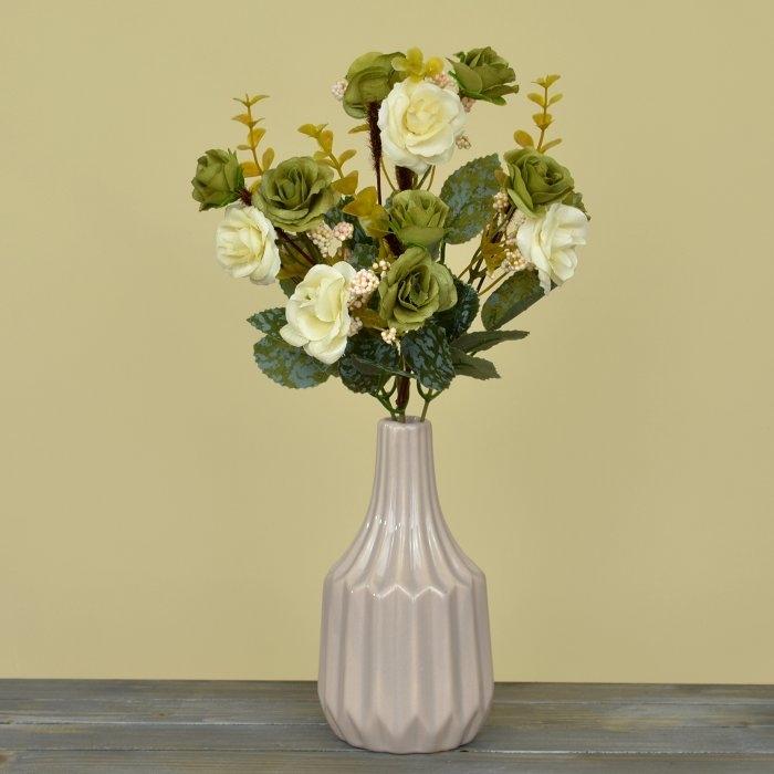 Букет роза биколор - оливковая