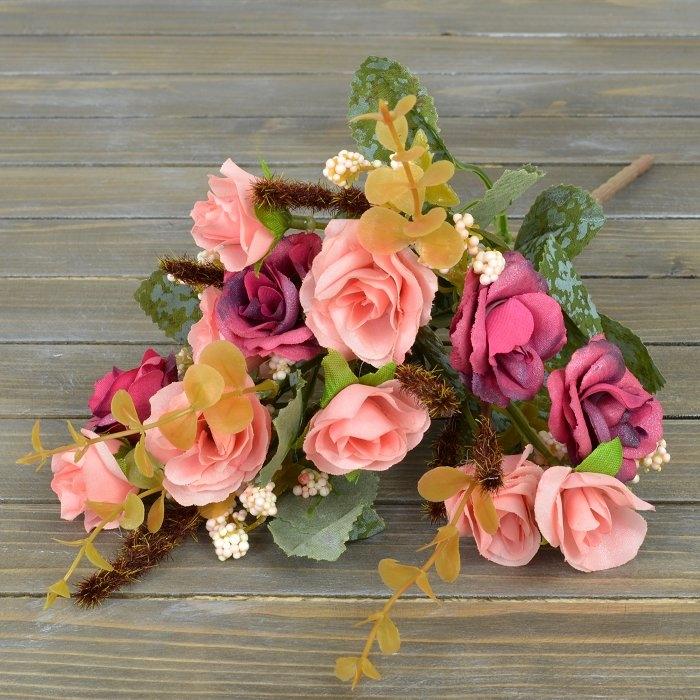 Букет роза биколор - розовая